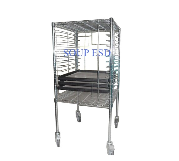 ESD Tray Cart for electronic storage SP-TRO113