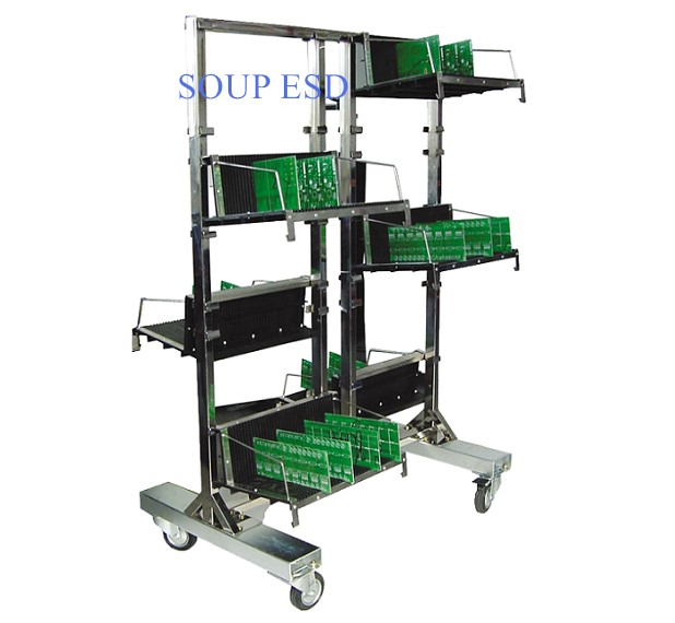 ESD Hanging Trolley with circulation racks SP-TRO107