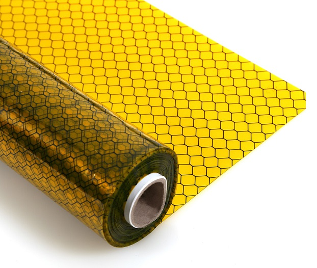 ESD Antistatic yellow grid curtain SP-GRI-04